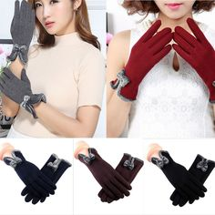 512a3db30f0 Hot Women Ladies Mittens Fingerless Knitted Wool Winter Warm Fur Gloves YY   fashion  clothing