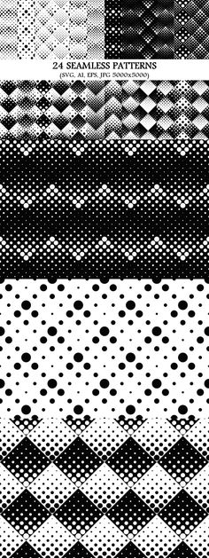 24 Seamless Dot Patterns #circle #BackgroundGraphics #background #geometric #repeating #monochrome #backdrop #GraphicDesign #abstract #BackgroundDesigns #discount #cheapgraphics #seamless #design #pattern #background #graphics