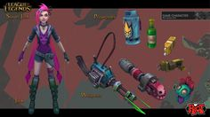 Jinx's final concept art for League of Legends. This little lady belongs to Riot Games. She was a blast to work on!