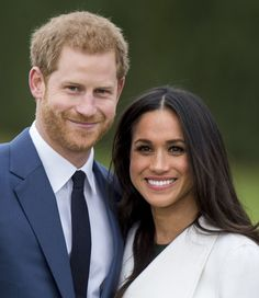 LONDON, ENGLAND - NOVEMBER 27: Prince Harry and Meghan Markle during an official photocall to announce the engagement of Prince Harry and actress Meghan Markle at The Sunken Gardens at Kensington Palace on November 27, 2017 in London, England. Prince Harry and Meghan Markle have been a couple officially since November 2016 and are due to marry in Spring 2018. (Photo by Mark Cuthbert/UK Press via Getty Images)
