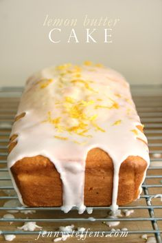 Lemon Butter Cake with Simple Glaze
