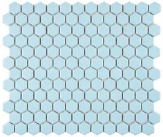 blue-hex-tile this tile from home depot is adorable and only $7.95/sq ft