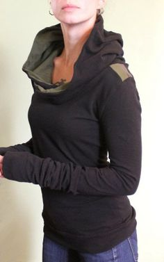Black Stylish Hoodie With Jeans