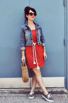 8e3eaece9 Combinar un Vestido Rojo