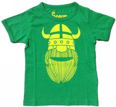 Green/yellow Viking tee
