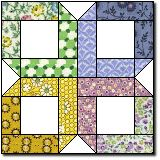 Box Quilt - from the original mail order pattern (1920-1940) in appropriate colours.