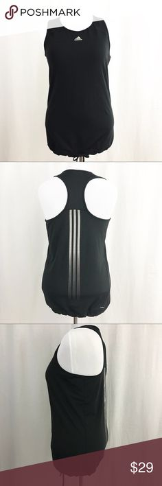 Adidas Response Women's Climacool tank. Large Stay cool and dry with this Adidas  Response  Black Tank Top with Climacool technology. Elastic drawstring on hemline for a flattering fit. Preowned. Excellent condition. Size Large. ( size & fabric tag removed ). adidas Tops Tank Tops