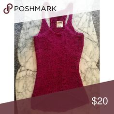 Brand new Express woven tank Fuchsia knit tank. Can be used as a beach cover-up or just worn as a regular top! Express Tops Tank Tops