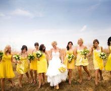 Bridesmaids Inspiration: Mix and Match Sunburst Yellow Bridesmaid Style