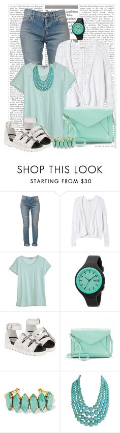 """""""Jeans"""" by ebramos ❤ liked on Polyvore featuring Yves Saint Laurent, Rebecca Taylor, Calypso St. Barth, Rip Curl, Apt. 9, Elizabeth Cole and Humble Chic"""