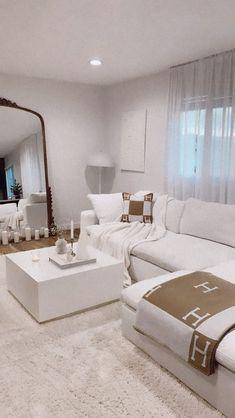 Home Living Room, Apartment Living, Living Room Designs, Living Room Decor, Bedroom Decor, Dream House Interior, Dream Home Design, Home Interior Design, Aesthetic Room Decor
