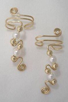 Swarovski White Pearl Ear Cuff