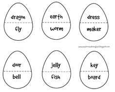 Easter, vocabulary, Easter eggs, compound nouns