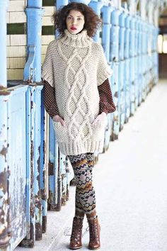 These gorgeous cabled creations are normally associated with rugged fishermen, but nowadays there are many free aran knitting patterns for women. Free Aran Knitting Patterns, Jumper Knitting Pattern, Cable Knitting, Hand Knitting, Knit Patterns, Aran Jumper, Cable Sweater, Moss Stitch, Jumpers For Women