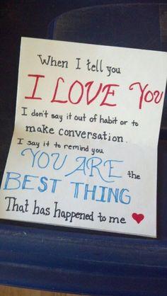Ideas birthday diy gifts for boyfriend love notes