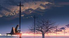 5 Centimeters Per Second - Makoto Shinkai - HD Wallpaper - Zerochan Anime Image Board Manga Anime, Sad Anime, Anime Art, Hayao Miyazaki, Studio Ghibli, 5cm Per Second, Slice Of Life Anime, The Garden Of Words, Anime Triste