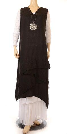 Idaretobe Easy Black Chic Summer Lagenlook Dress