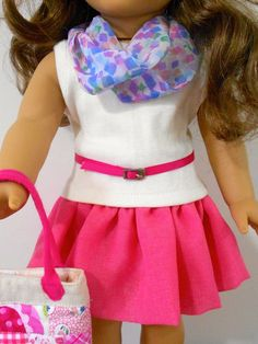 Val Spiers Sews Doll Clothes: Free Infinity Scarf for American Girl Doll Clothes