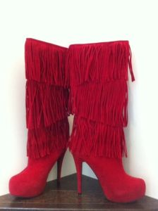 red boots for Valentine's Day by Razzle Dazzle