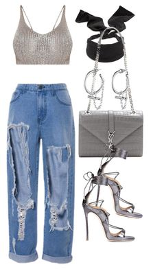 """""""Untitled #2444"""" by mariie00h ❤ liked on Polyvore featuring Colette Malouf, Yves Saint Laurent and Eddie Borgo"""