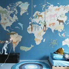 World map kids world map poster educational map for kids peel and tapetenwandbild xl weltkarte blaubeige 300x300cm gumiabroncs Images