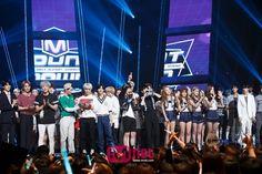 Kai, Sehun, Chen, Suho - 150604 Mnet M! Countdown Credit: Mnet. (엠넷 엠! 카운트다운)