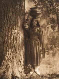 In the forest - Taos (The North American Indian, v. Norwood, MA, The Plimpton Press, :: Featured Sets Native American Photos, Native American Women, Native American History, Native American Indians, Native Americans, American Life, Taos Pueblo, University Of Southern California, First Nations