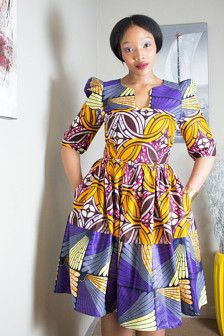 Coton africain imprimé robe parfaite pour les fonctions corporate/formelle et décontractées                                                                                                                                                                                 Plus