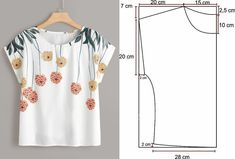 Blouse Patterns, Clothing Patterns, Blouse Designs, Fashion Sewing, Diy Fashion, Ideias Fashion, Sewing Blouses, Easy Sewing Patterns, Diy Clothing