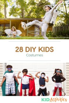 A collection of 28 DIY costume ideas for kids. Great for Halloween or drama class. Halloween Activities For Kids, Activities For Boys, Halloween Kids, Creative Costumes, Easy Costumes, Costume Ideas, Fun Classroom Games, Drama Class, Preschool Age