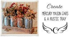How to wood burn a flower..also mercury Ball jars