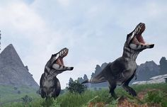 The tyrannosaurus rex is easily the most common dinosaur in the Isle. It's the strongest of the carnivores and often travels in big packs. Like 1 t-rex chasing you wasn't enough? #tyrannosaurusrex #trex #theisle #theislegame #dinosaur #dino #survival #gam