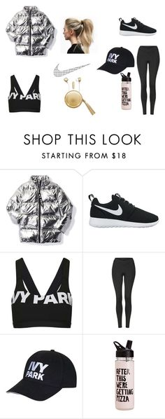 """omw to the gym"" by jaevette ❤ liked on Polyvore featuring Ivy Park, NIKE, Topshop and The Macbeth Collection"
