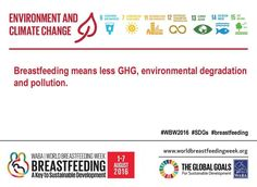 World Breastfeeding Week 2016. Theme 3: Environment and Climate Change. #WBW2016 #SDGs #breastfeeding #nutritioncareofrochester #fact5