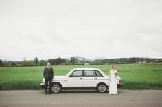 this couple used their 1987 Volvo as their getaway car!