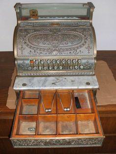Vintage Antique 1912 Model 333 Bronze National Cash Register