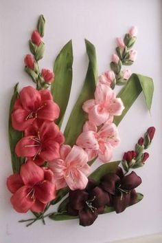 ribbon embroidery designs silk ribbon flower embroidery designs rh pinterest com
