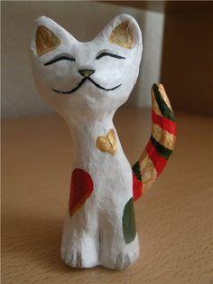 Кошечка (папье-маше) - Ярмарка Мастеров - ручная работа, handmade
