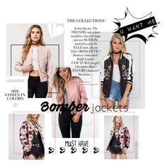 """""""Bomber jackets"""" by impulsiveartist on Polyvore featuring Sans Souci and Glamorous"""