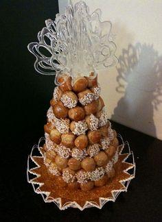 Croquembouche French wedding cake #food #cake #wedding #party