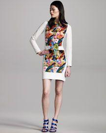 Perforated Leather Dress. Bergdorfs.  dressologyhq.blogspot.com