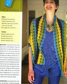 Chal Tiras de Flores Crochet Patron - Patrones Crochet