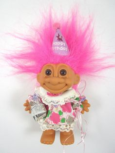 happy birthday troll doll