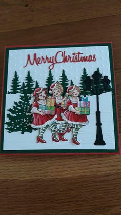 Stampin Up Christmas, Christmas Cards, S Girls, Boy Or Girl, 3d Cards, Marianne Design, Girl Humor, Besties, Card Making