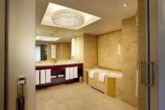 Bathroom in our Presidential Suite at Kempinski Hotel Gravenbruch Frankfurt
