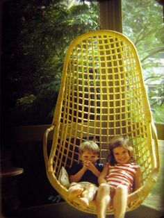 Me and Kate in a Wicker Hanging Chair 9248, via Flickr.