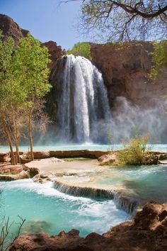Someday I'll hike to Havasupai Falls. Great Places, Places To See, Beautiful Places, Dream Vacations, Vacation Spots, Havasupai Falls, Havasupai Arizona, Arizona Travel, Grand Canyon National Park