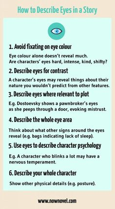How to Describe Eyes in a Story - 7 Tips | Now Novel