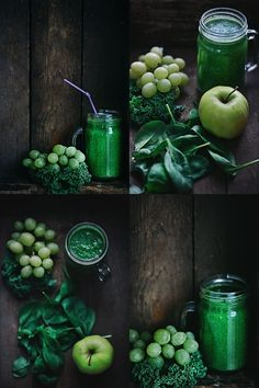 Kale, Grape & Apple Detox Smoothie. Photography by Christine Greve ... ✤ॐ ♥ ▾ ๑♡ஜ ℓv ஜ ᘡղlvbᘡ༺✿ ☾♡ ♥ ♫ La-la-la Bonne vie ♪ ❥•*`*•❥ ♥❀ ♢♦ ♡ ❊ ** Have a Nice Day! ** ❊ ღ‿ ❀♥ ~ Sa 14th Nov 2015 ...