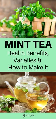 Have you ever wondered whether mint tea has health benefits? We're digging into the research and more details about mint tea in this article. Mint Benefits Health, Green Tea Benefits, Tea Recipes, Healthy Recipes, Healthy Food, Cafe Recipes, Spearmint Tea, Mint Water, Plant Based Eating